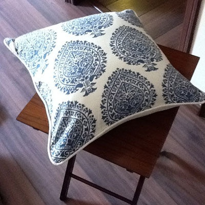 Blue Jaipur Motif Cushion