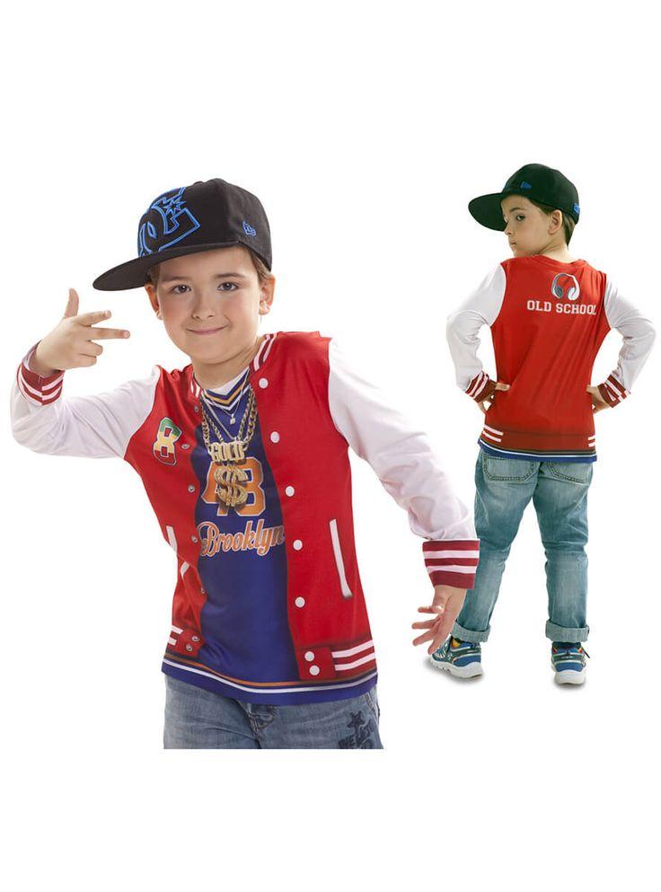 Disfraz camiseta de rapero para niño