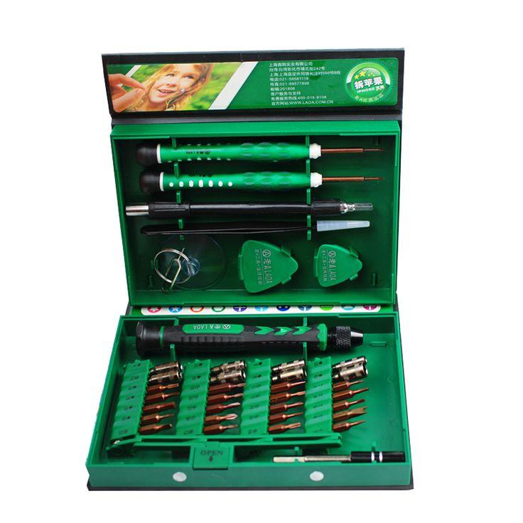 LAOA 38 in 1 Laptop Mobile phone Repair Tools Kit Precise Screwdriver Set Hand tools  Repair for Cell Phones