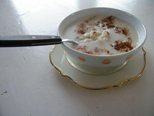Canjica de milho com leite de coco