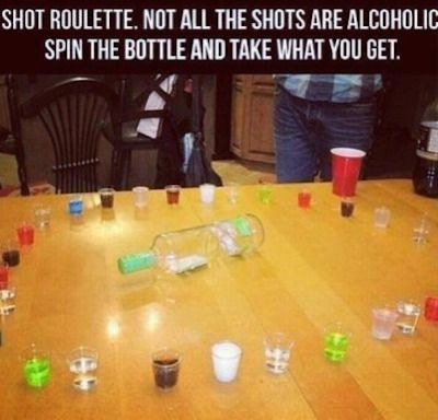 7 Drinking Games That Are Way Better Than Flip Cup, shot roulette drinking game