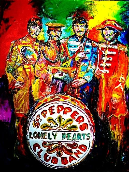 Beatles Sgt Pepper Canvas Print Art By Leland Castro