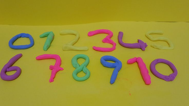 Learning to play with the numbers from 0 to 10 doh dough  Surprise Toys ...