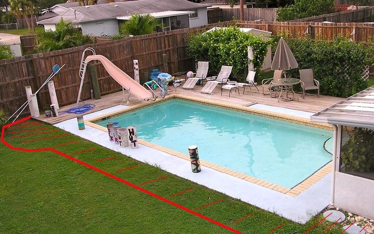 31 best images about how to build a pool deck on pinterest for In ground pool deck ideas
