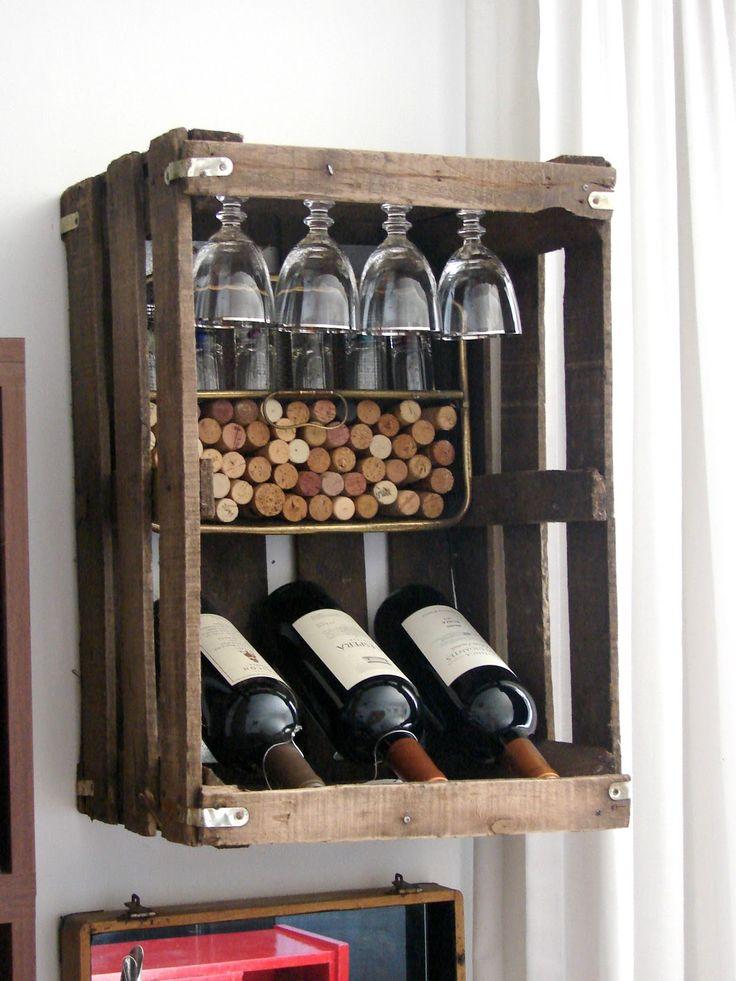 Mini vinoteca muebles pinterest minis for Diseno de muebles con cajones de verduras