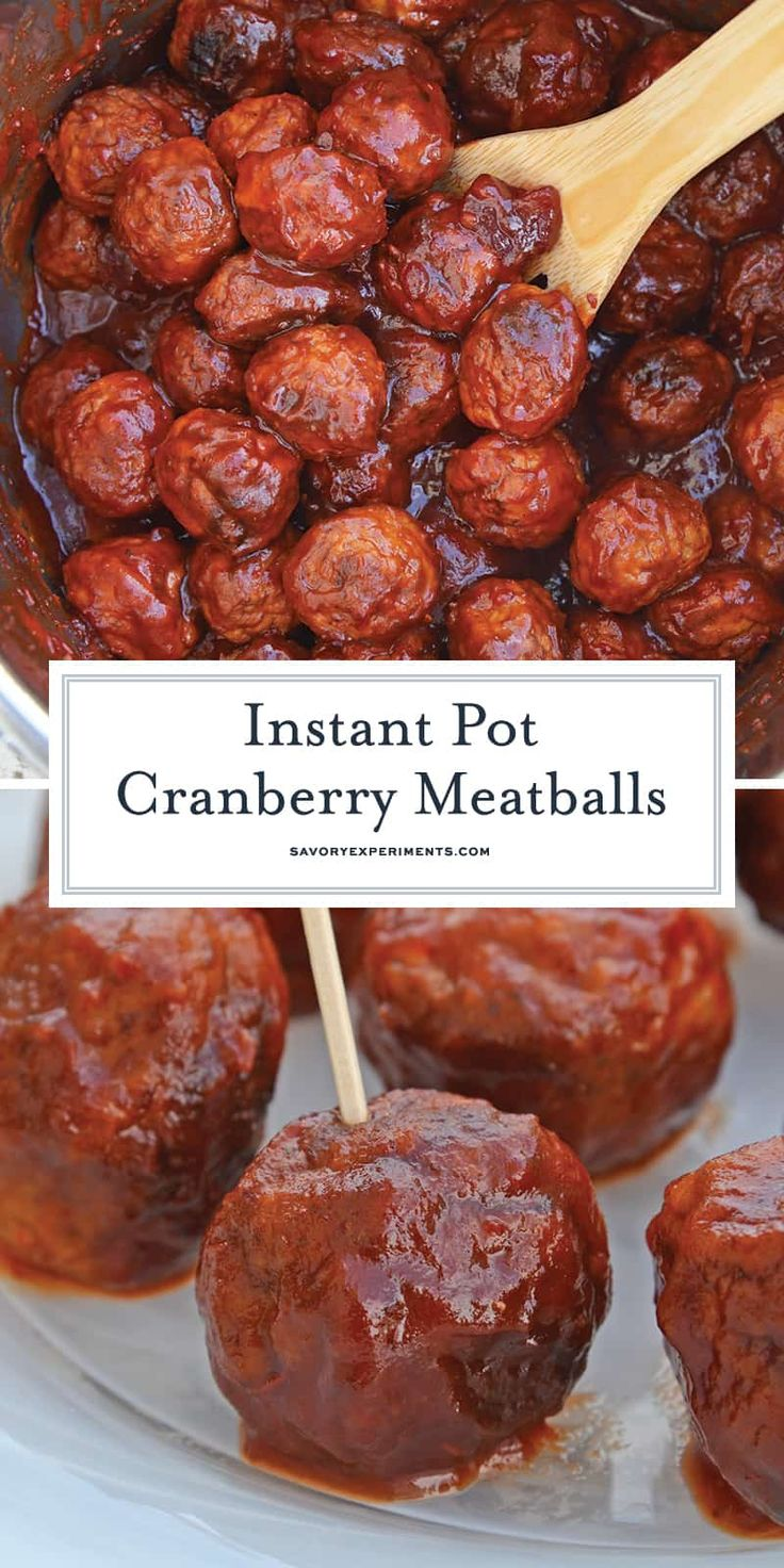 Instant Pot Cranberry Meatballs Party Meatballs in the