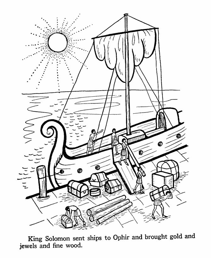 King Solomon Coloring Page Bible Coloring Pages Pinterest