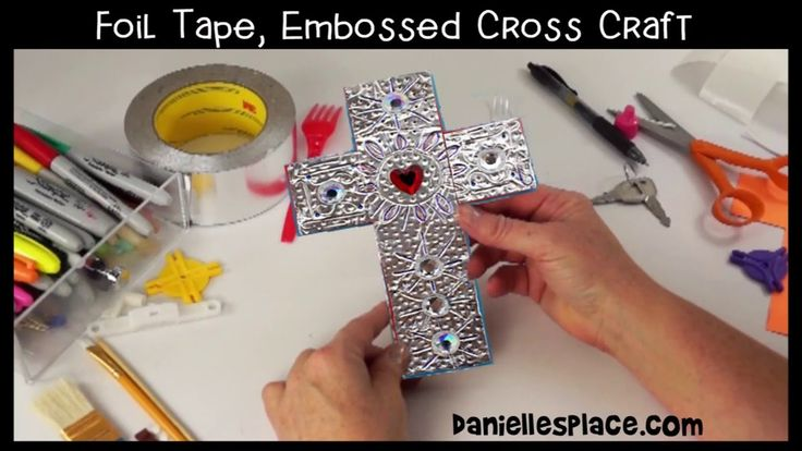 Foil Tape, Embossed Cross Craft - View it and Do it Craft! #11