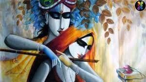 paintings of radha krishna