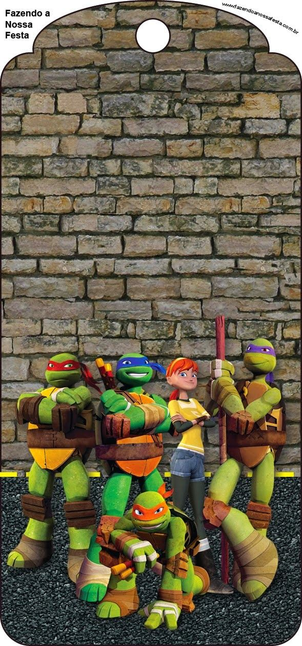 Ninja Turtles Free Party Printables and Invitations.