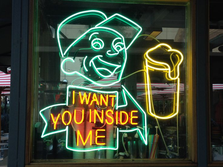 """""""I want you inside me"""" neon sign at Diner on Exhibition Street, Melbourne #melbourne #misslicko #happytypings #fionahudson"""