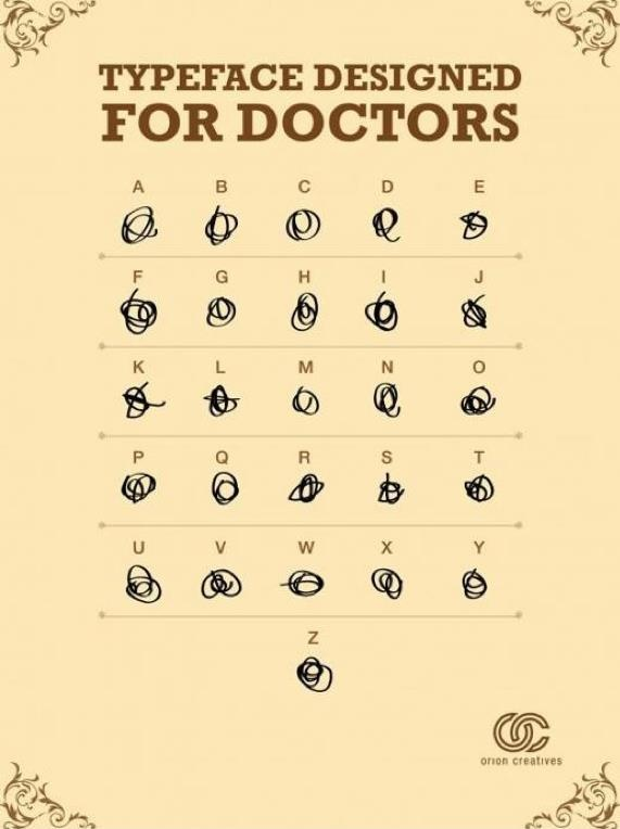 typeface designed for doctors: Medical Alphabet, Typefac Design, Menu, Medicalphabet, The Only, Funny Stuff, Humor, Medicalalphabet, Doctors