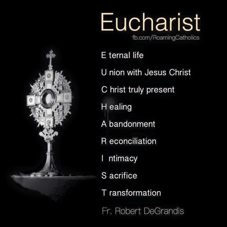 The Eucharist! My God, I love You!