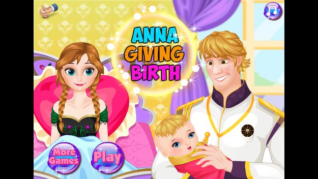 """It's called Anna Giving Birth, and it's an unlicensed game where Anna from Frozen is pregnant — and it's up to you to deliver her child.   There's An Unlicensed """"Frozen"""" App Where You Deliver Anna's Baby"""