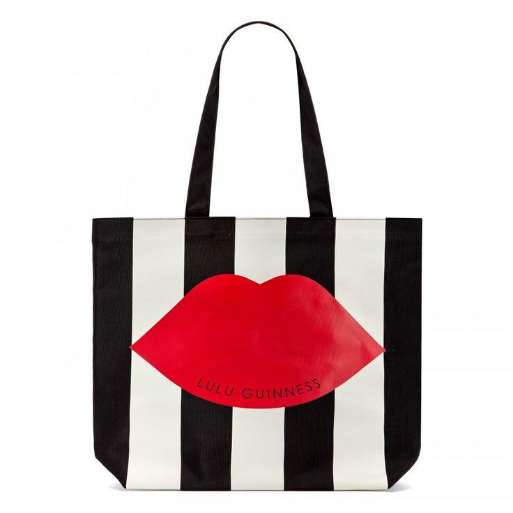 Stripe Lily Tote | Totes | Handbags | Lulu Guinness | Lulu Guinness