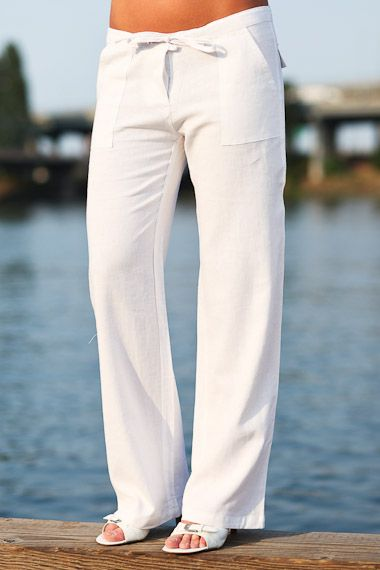 Island Pant In 2019 Women S Vacation Outfit S Linen