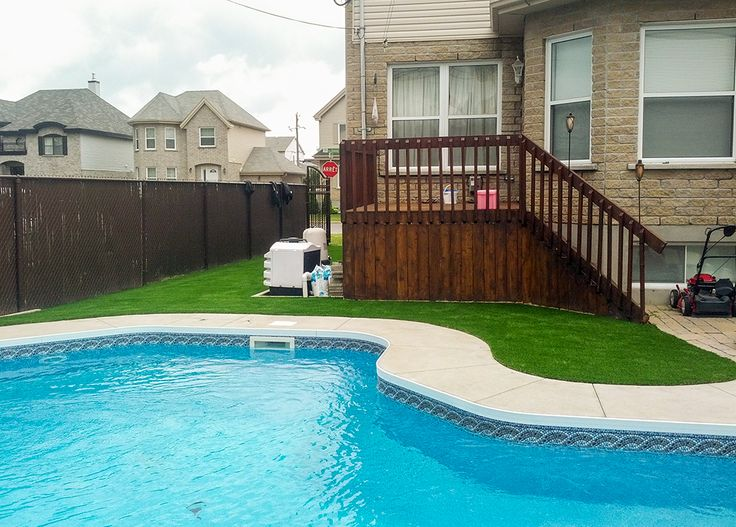 17 best images about gazon synth tique autour de la for Construction piscine zone verte