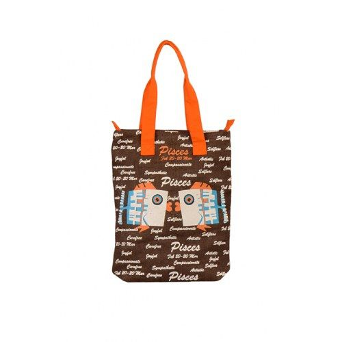 Pices Jute Brown Bag
