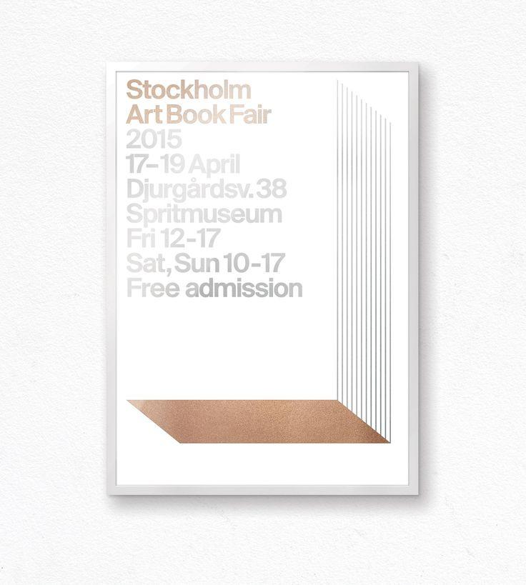 Stockholm Art Book Fair Poster / by Snøhetta www.snohetta.com