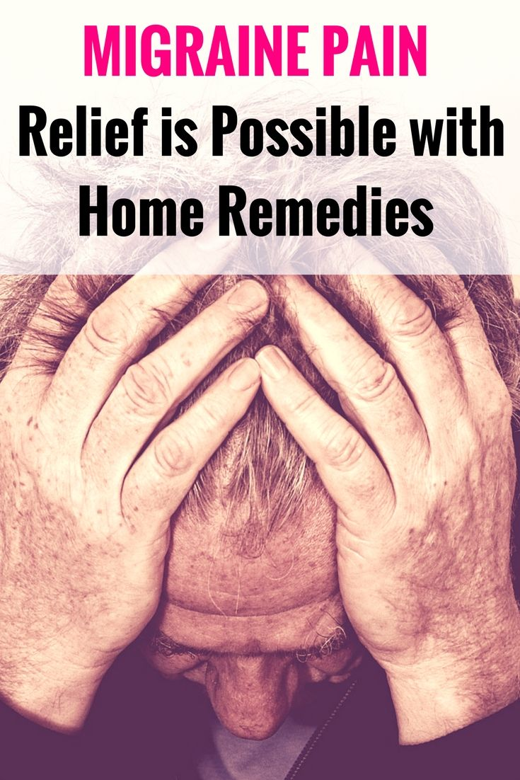 Migraine pain relief possible with home remedies