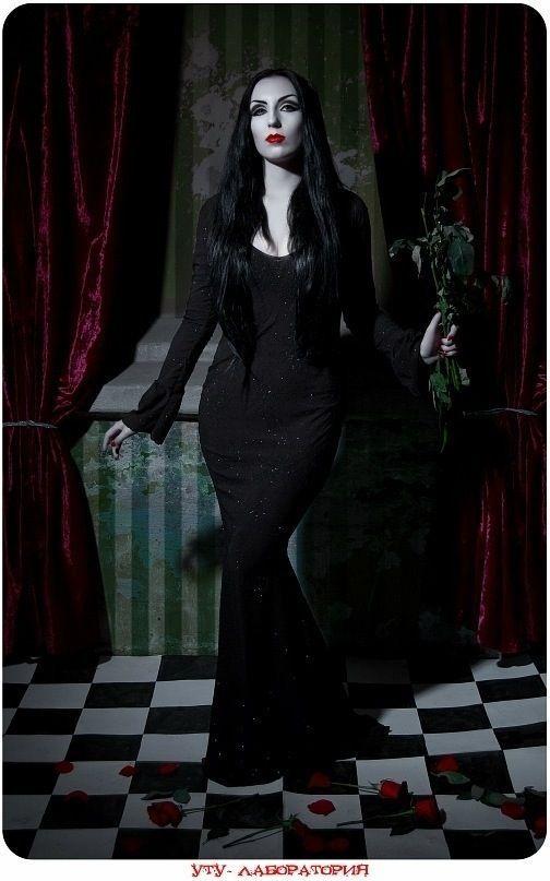 Morticia Addams inspired