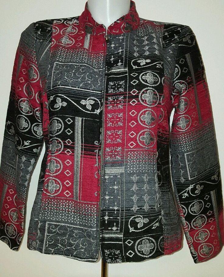 Christopher & Banks Women's Zip Up Blazer Coat Jacket Size Large L EUC   | eBay