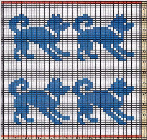 Dog fair isle pattern