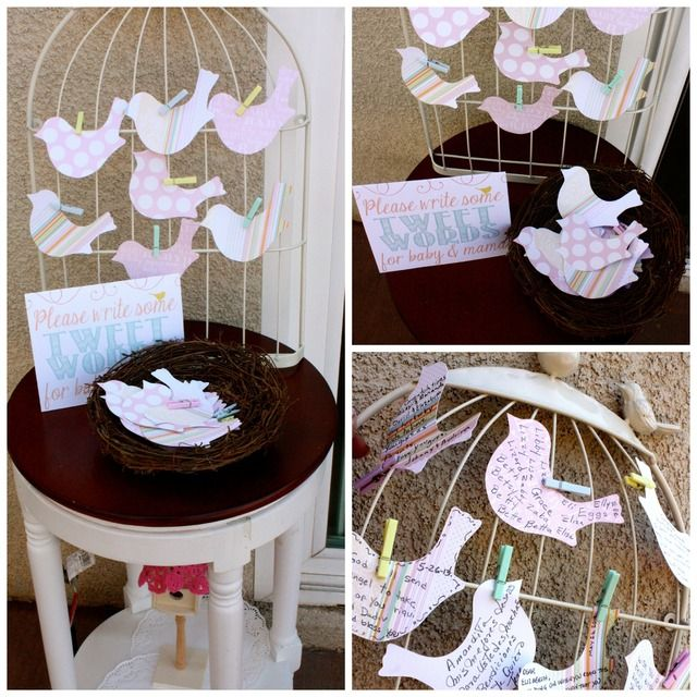 Birdie Baby Shower #bird #babyshower   All mommies must visit www. upscale-mom.com for multi tasking magic!