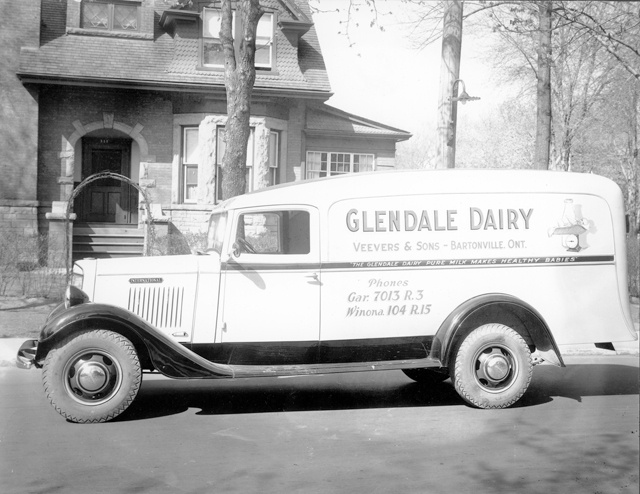 A Glendale Dairy truck. The dairy was owned by Veevers & Sons in Bartonville