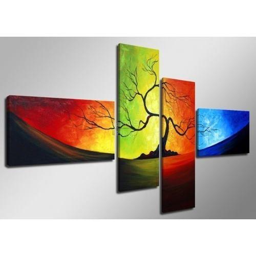 cuadros moderno tripticos polipticos florales abstractos