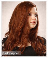 Model with a dark copper hair color