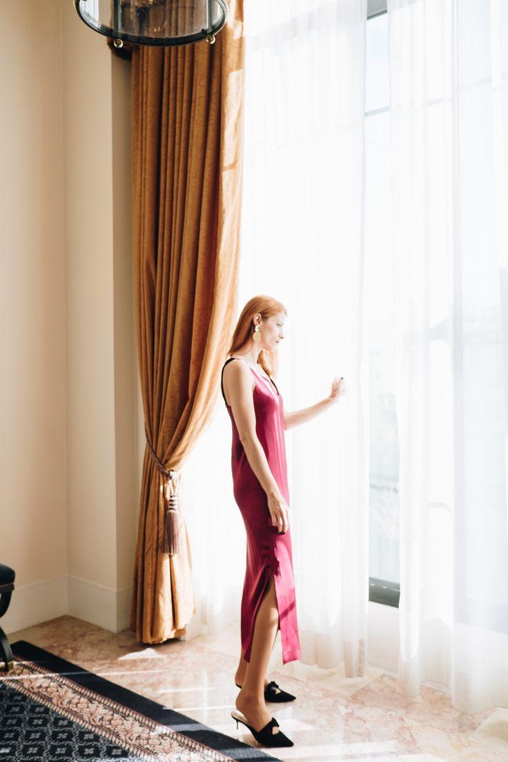 Silk slip dress; how to style a slip dress for festivities - Suvelle Cuisine