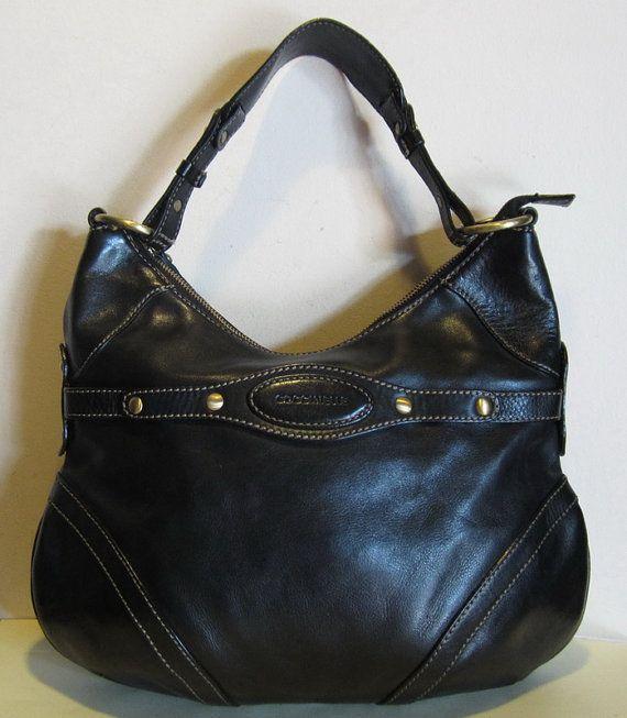 splendid leather handbag shoulder bag brown coccinelle italy vintage bags pinterest. Black Bedroom Furniture Sets. Home Design Ideas