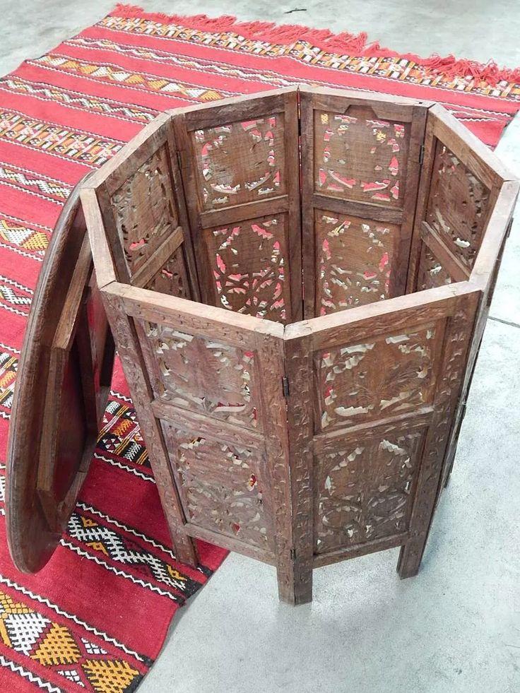 mesa tallada a mano hindú tipo árabe plegable $3500