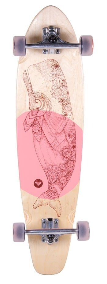 Roxy Balina Cruiser Skateboard is a maple wood skateboard featuring delicate whale artwork. ......Price - $170.00