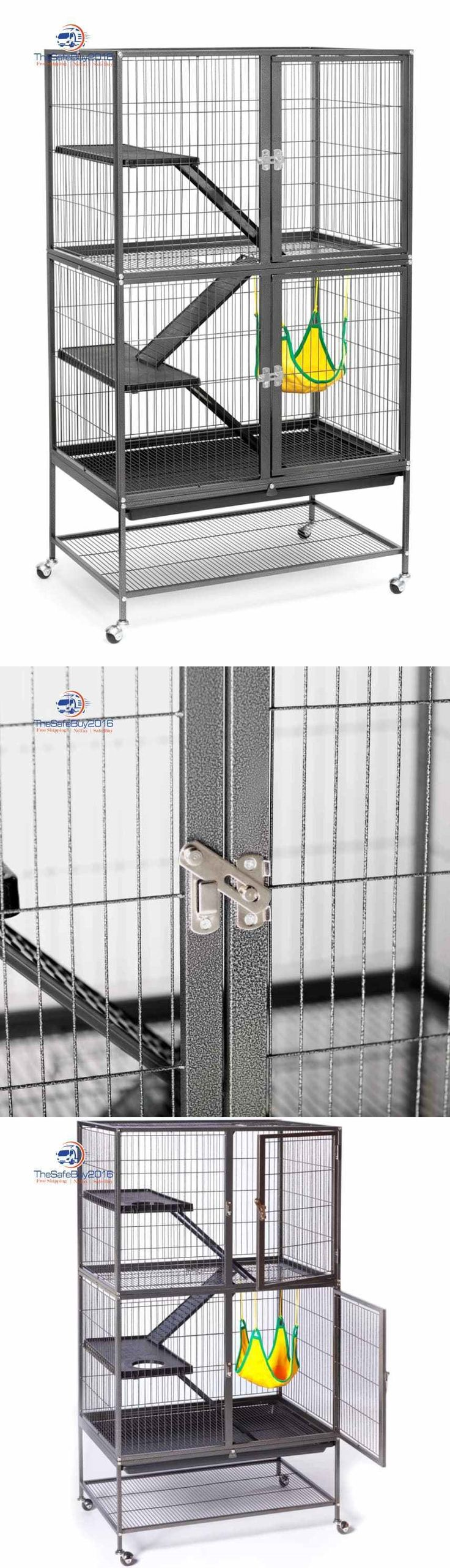 Cages and Enclosure 63108: Large Ferret Cage Small Pet Chinchilla Rabbit Hamster Guinea Rat Metal House BUY IT NOW ONLY: $159.99
