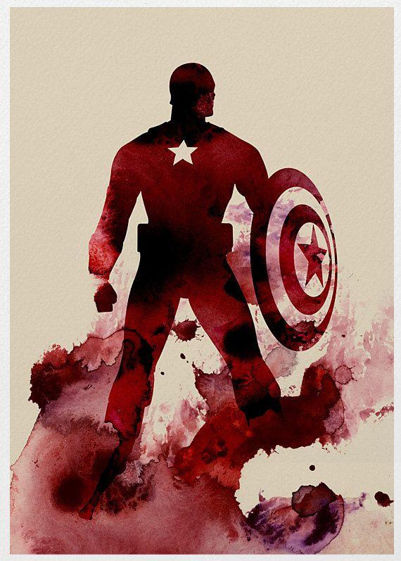 The Avengers Captain America A3 Poster Print. via Etsy.