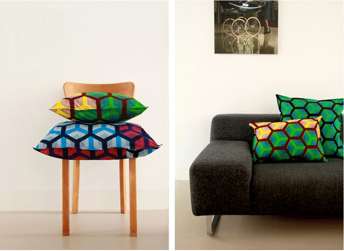 I like the new collection pillows called 'Livin in a box' by Daphne Westland. You like them too