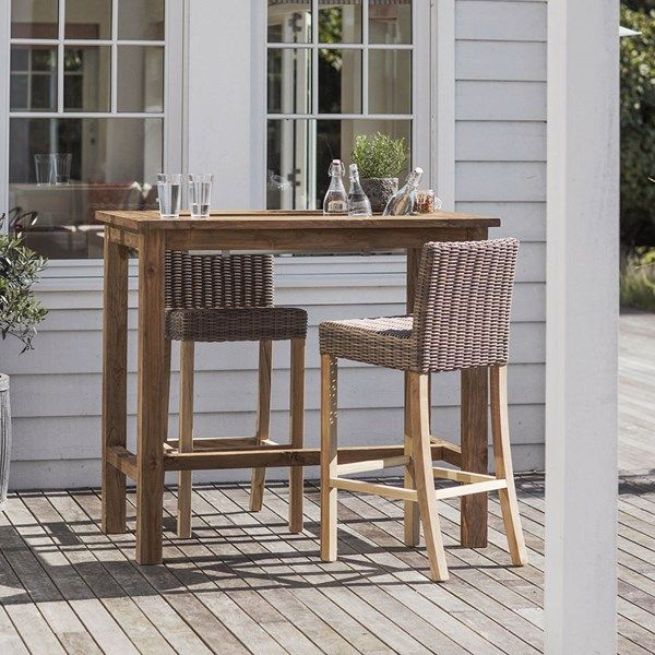 Garden Trading St Mawes Bar Table And Stools Set Bar Table And