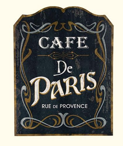 Ideas for Raleigh's coffee shop sign. I like it being in French.