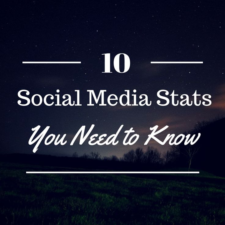 10 Social Media Stats You Might Not Know (But Should) - @b2community