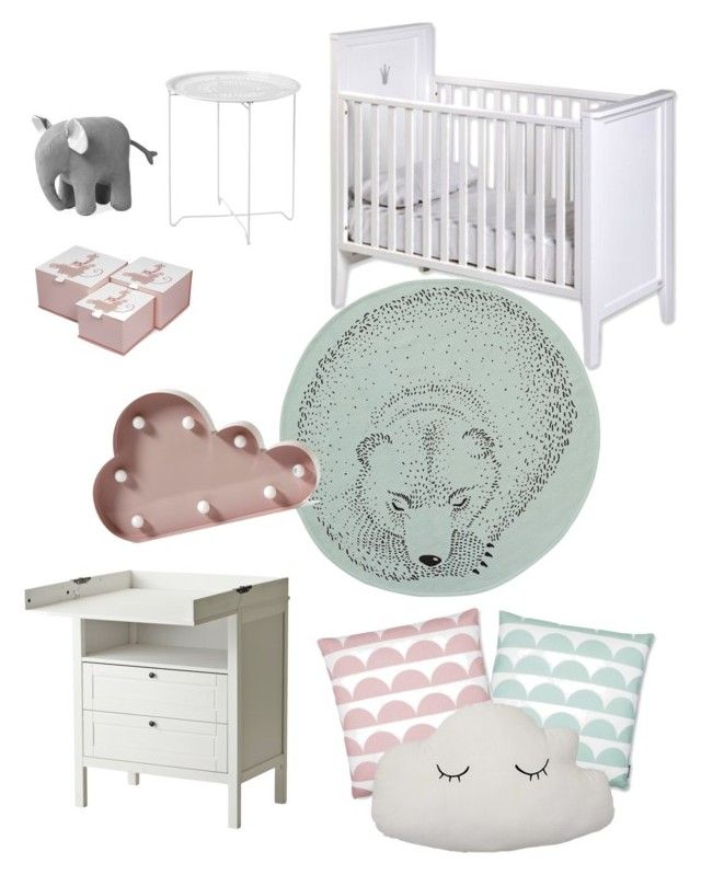 """""""Baby nr2"""" by amandaahlm on Polyvore featuring interior, interiors, interior design, home, home decor, interior decorating and Bloomingville"""