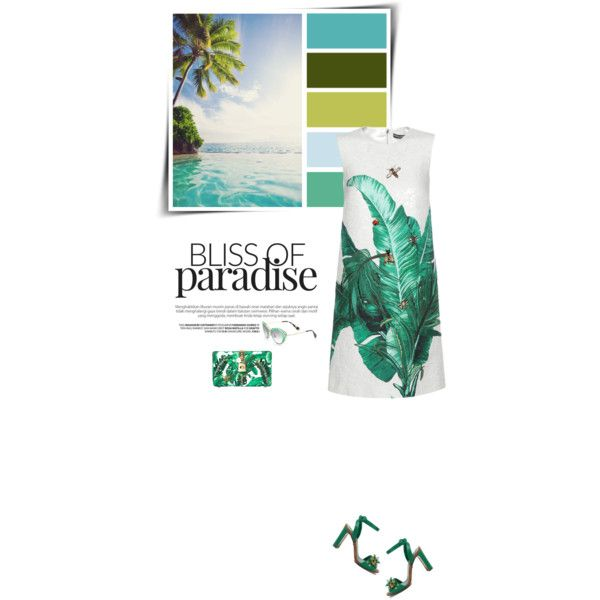 Tropical vacay 🌴 by sophiek82 on Polyvore featuring Dolce&Gabbana and Miu Miu