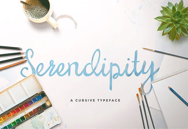 Serendipity Script is a free font for both personal and commercial use. It is provided in OTF and TTF formats. Created by Maroon Baboon.