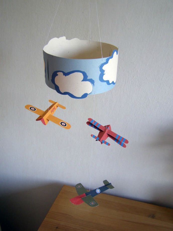 DIY Cut and Make Paper Plane Mobile via PEPE