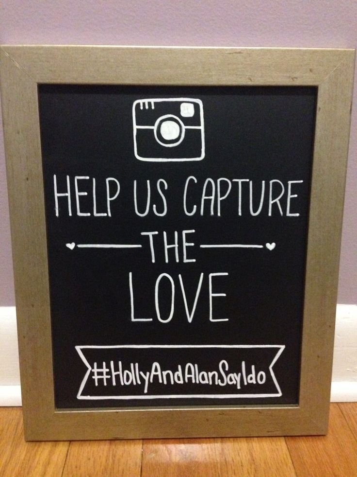 Wedding Instagram sign. Help us capture the love! Instagram sign