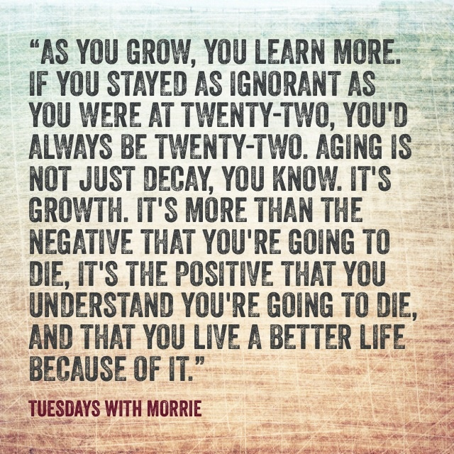 Life Lessons from Tuesdays With Morrie
