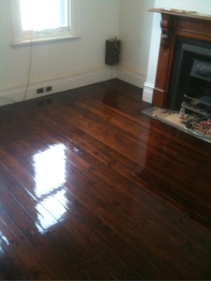 baltic pine floors after polishing