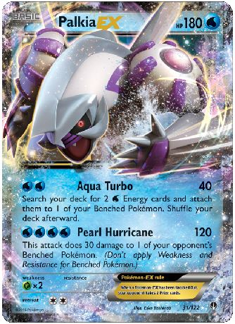 Palkia-EX 31/122 Pokemon TCG: XY BREAKpoint, Holo Paint Pokemon Card #pokemon #pokemontcg #pokemoncards