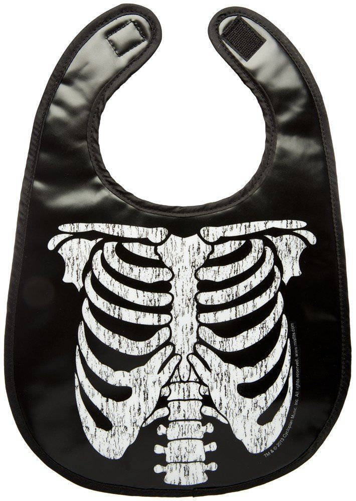 Amazon.com: Kiditude Misfits Ribcage Punk Rock Baby Bib. gets the gothlings.co.uk approval